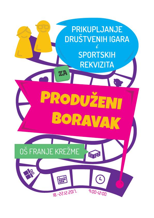 letak za prikupljanje društvenih igara i sportskih rekvizita u OŠ Franje Krežme